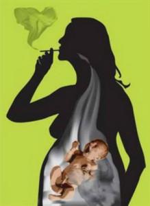 беременная-курящая-женщина